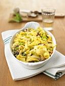 Chinese cabbage pasta bake