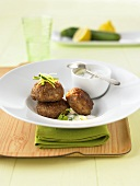Lamb meatballs with courgette