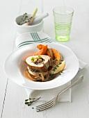 Stuffed pork fillet with mushrooms and pumpkin