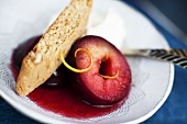 Red wine plum with a rusk