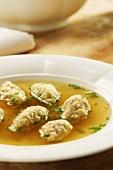 Swabian fried dumpling soup