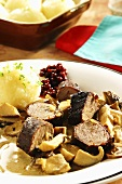Thuringia wild boar fillet with porcini mushrooms