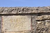 A sign with the words: Romanee-Conti