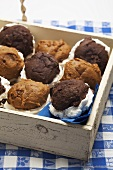Whoopie pies in a wooden box