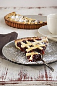Crostata (Italian cake with jam and lattice pastry)