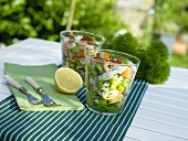 Seafood salad with celery