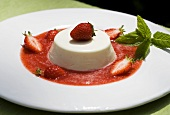 Panna cotta with strawberry soup