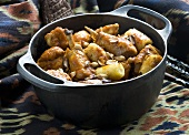 Chicken stew with bananas and peanuts (Africa)