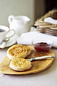 Crumpets and jam