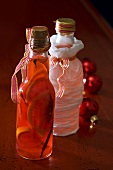 Homemade blood orange liqueur