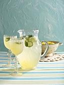 Lemon and cucumber lemonade