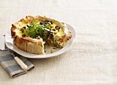 Vegetable and ricotta tart