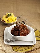 Braised beef with maize mash