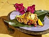 Gegrillte Zitronen-Hähnchenflügel im karibischen Stil
