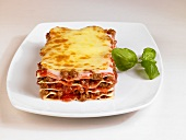 Lasagne made with mince