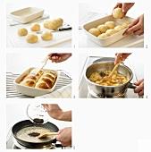 Buchteln mit Quittenkompott und Mohnbutter zubereiten