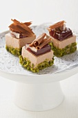 Duck liver pralines with pistachios