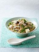 Vegetable and tofu laksa