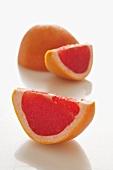 Rosa Grapefruit, aufgeschnitten