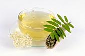 Rowan tea and blossom