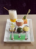 Small egg-based appetisers