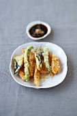 Vegetable tempura with soy sauce