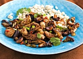 Chicken with cashew nuts and rice