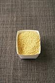 Couscous in a cardboard punnet