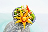 Spicy bamboo heart salad with dried fish (Thailand)