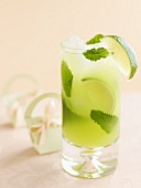 Mojito with honeydew melon