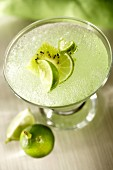 Lime and kiwi fruit drink