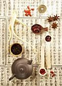 Asian tea still life