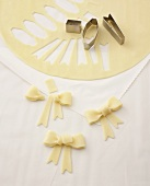 Making marzipan bows