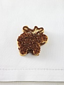 Reindeer biscuit with grated chocolate