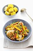 Picana de pollo (Chicken stew for Christmas, Bolivia)