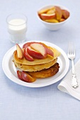 Pancakes with stewed apple
