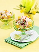 Shrimp cocktail with cucumber and mango