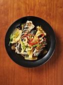 Grilled mackerel with vegetables (Korea)