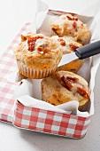 Savoury dried tomato muffins