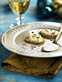 Mushroom soup with cheese toast (Christmas)