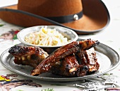 Ribs and coleslaw (Texas, USA)