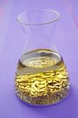 Sunflower oil with sunflower seeds