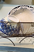 Bowl and plate in dish rack