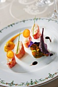 Lobster tail with pumpkin tartare