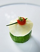 Courgette and mozzarella appetiser