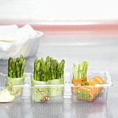 Finger food in plastic container