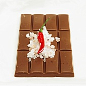 Chocolate with sea salt and chilli