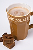Hot chocolate with caramels