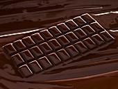 Melting chocolate bar