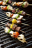 Shashlik on barbecue